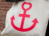 Anchor Heart Tote