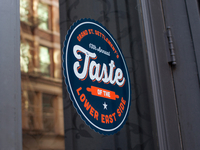 Taste of the Lower East Side Window Decal