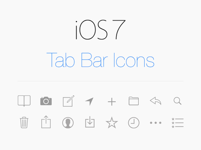 Download Vector Tab Icons iOS 7
