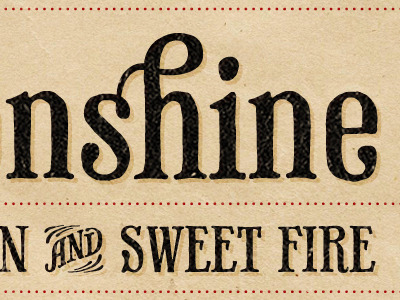 Dribbble - Firewater Moonshine Label by James Donaldson