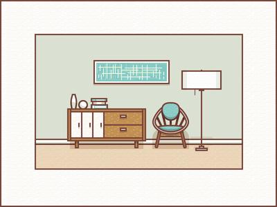 客廳圖形圖標設計